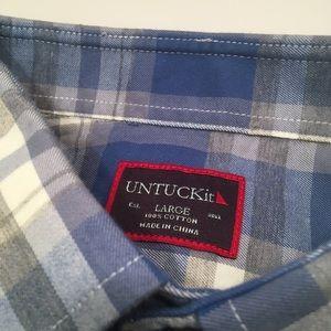 Untuckit Shirts - Men's Untuckit Plaid Button Down Shirt
